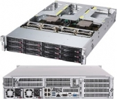 Supermicro AMD EPYC A+ Server 2023US-TR4 Dual Socket, 12x HDD (inc. 4x NVMe) , Quad Gigabit